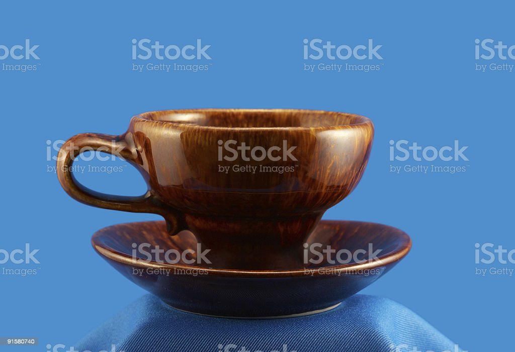 Stylish east cup on saucer royalty-free stock photo