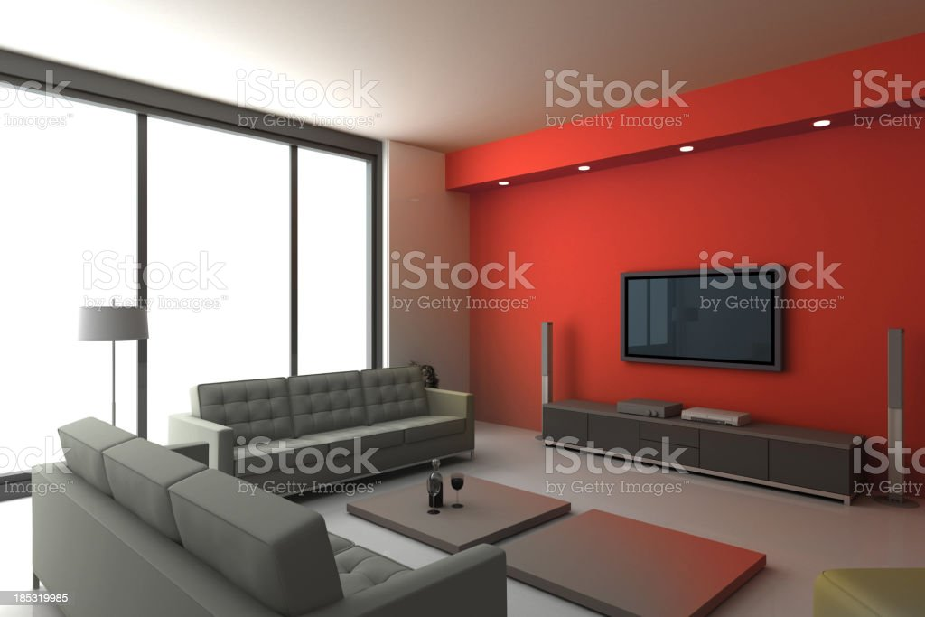 Stylish furniture stock photo