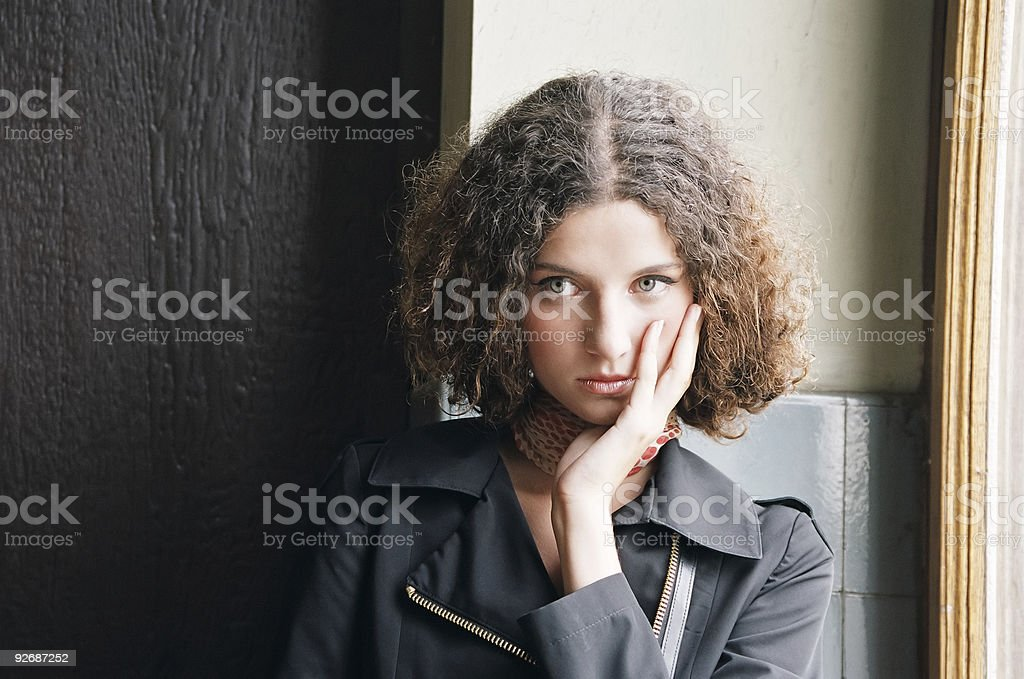 Stylish girl royalty-free stock photo