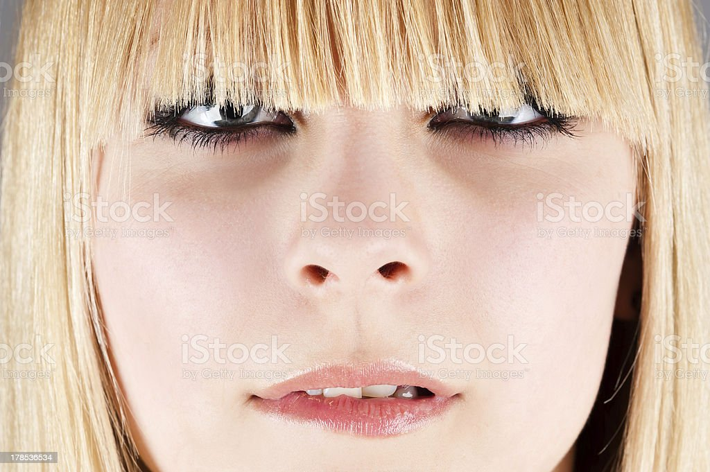stylish girl portrait stock photo