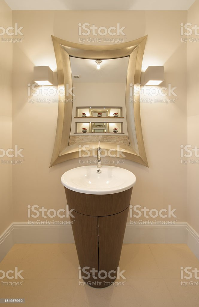 stylish guest's cloakroom royalty-free stock photo