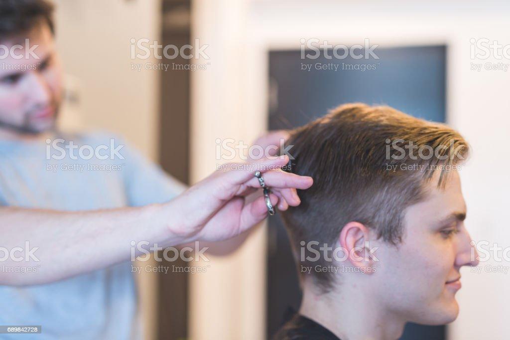 Stylish Haircut stock photo