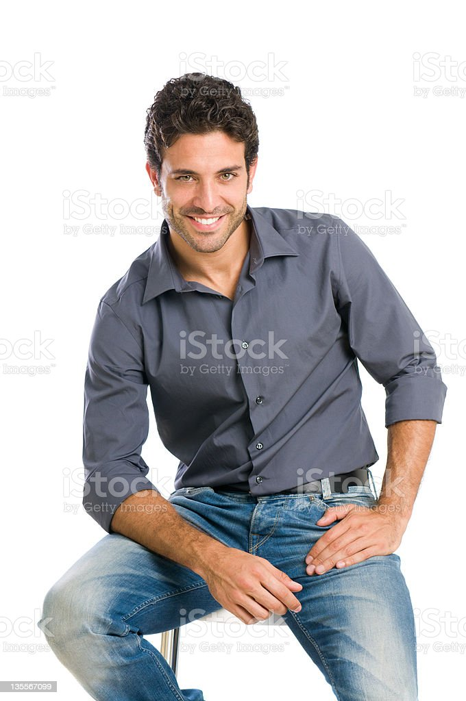 Stylish happy guy royalty-free stock photo