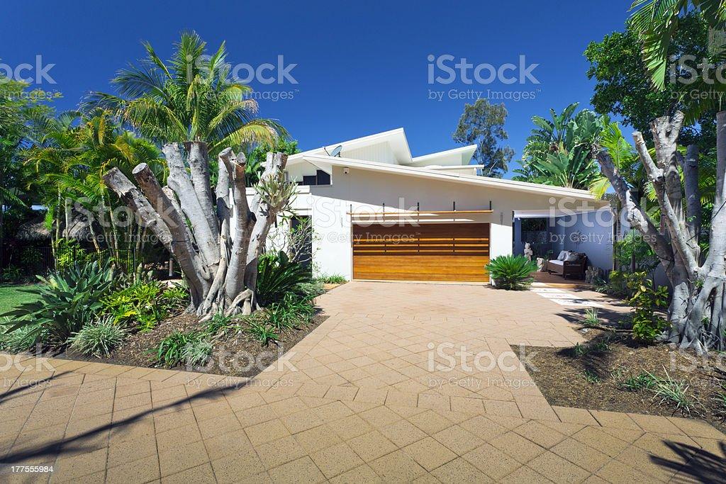 Stylish house front royalty-free stock photo