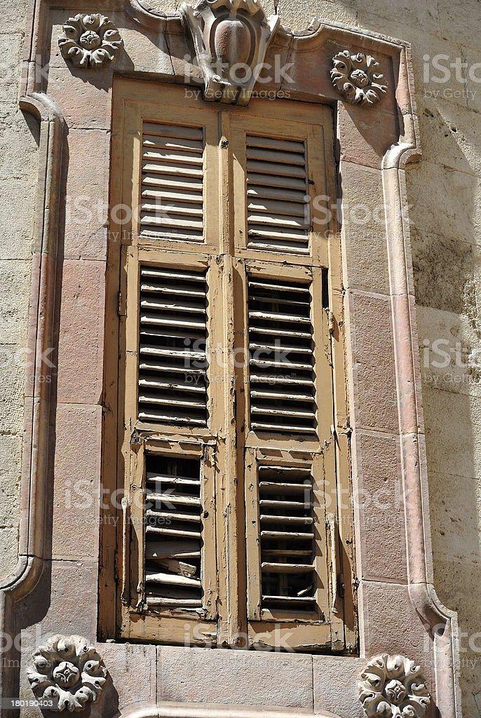 Stylish house window in Jerusalem. royalty-free stock photo