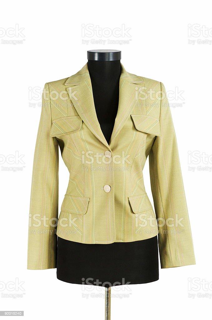 Stylish jacket isolated on the white background royalty-free stock photo