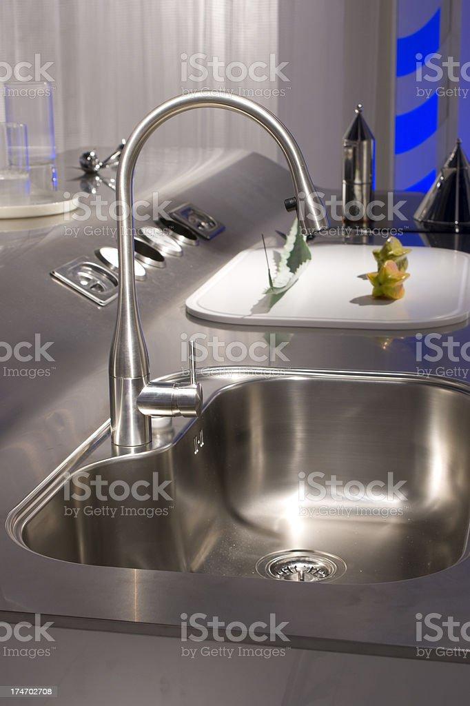 Stylish Kitchen Sink royalty-free stock photo