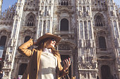 Stylish lady in Milan
