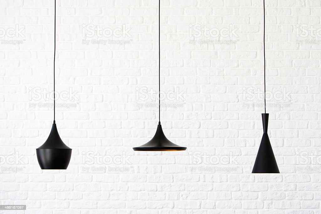 Stylish lamps stock photo