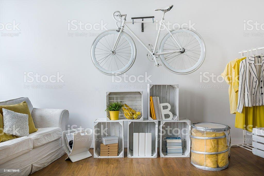 Stylish lounge designed for hipster stock photo