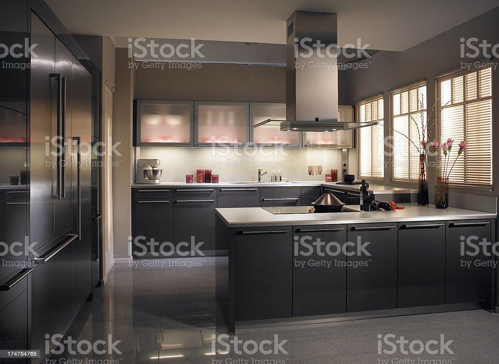 Stylish luxury modern kitchen in apartement royalty-free stock photo
