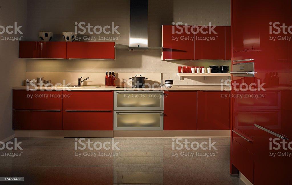 Stylish luxury modern kitchen in apartement stock photo