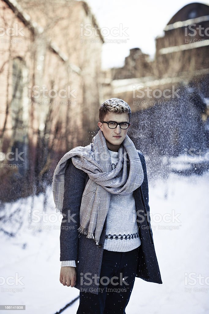 Stylish man in a coat royalty-free stock photo