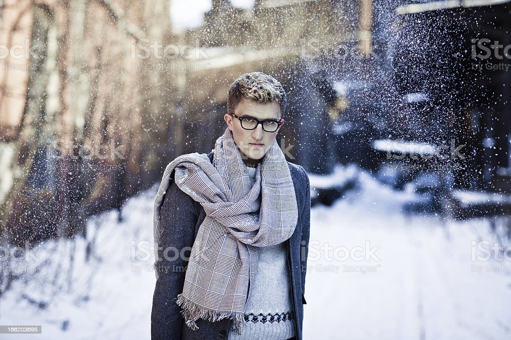 Stylish man in a coat royalty-free stock photo