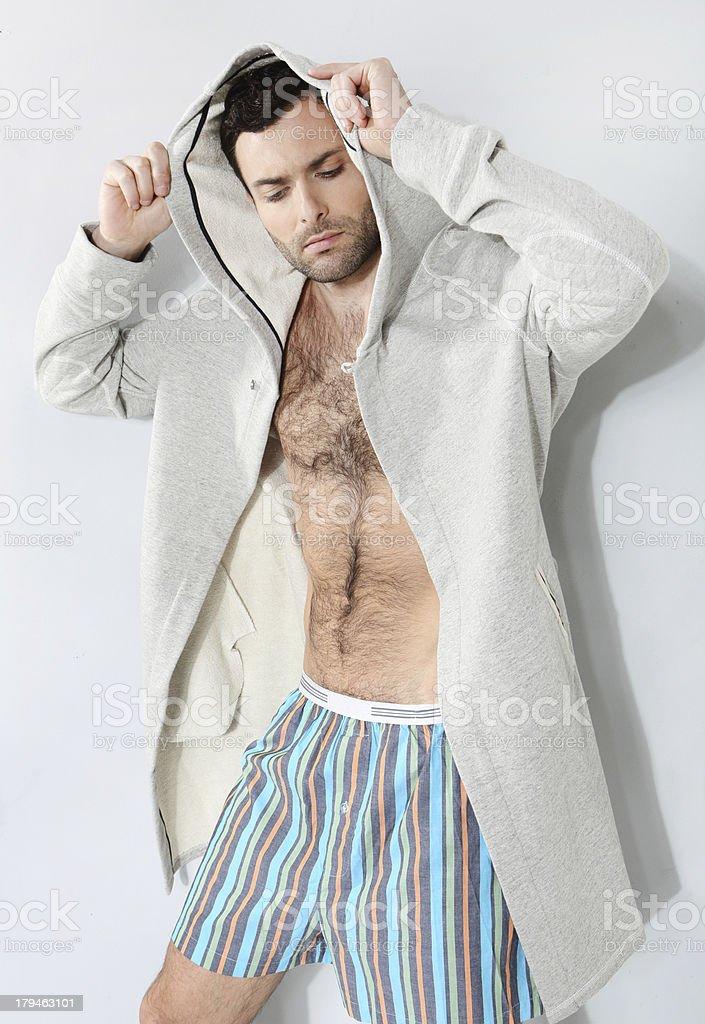 Stylish man in shorts royalty-free stock photo