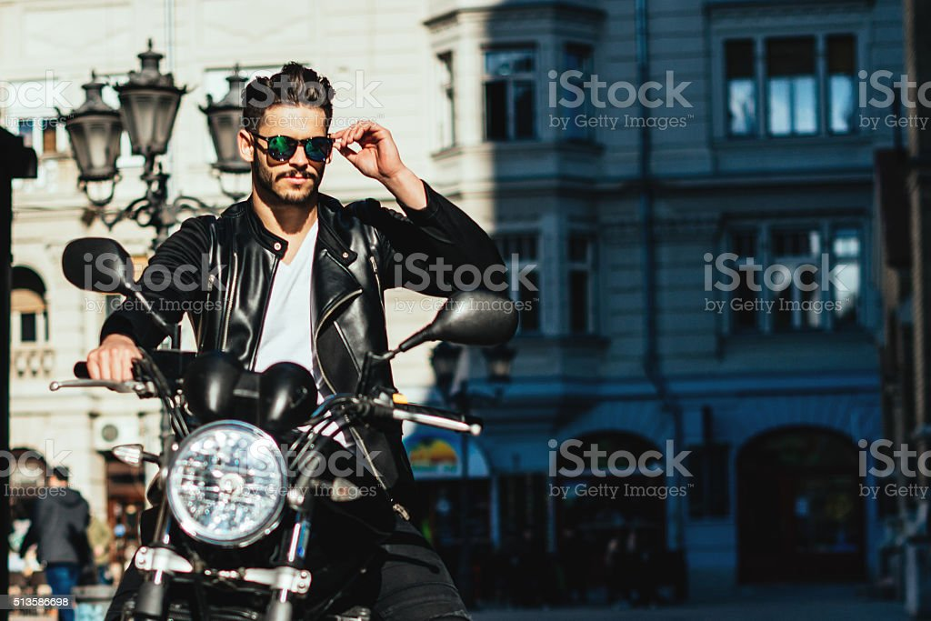 Stylish man stock photo