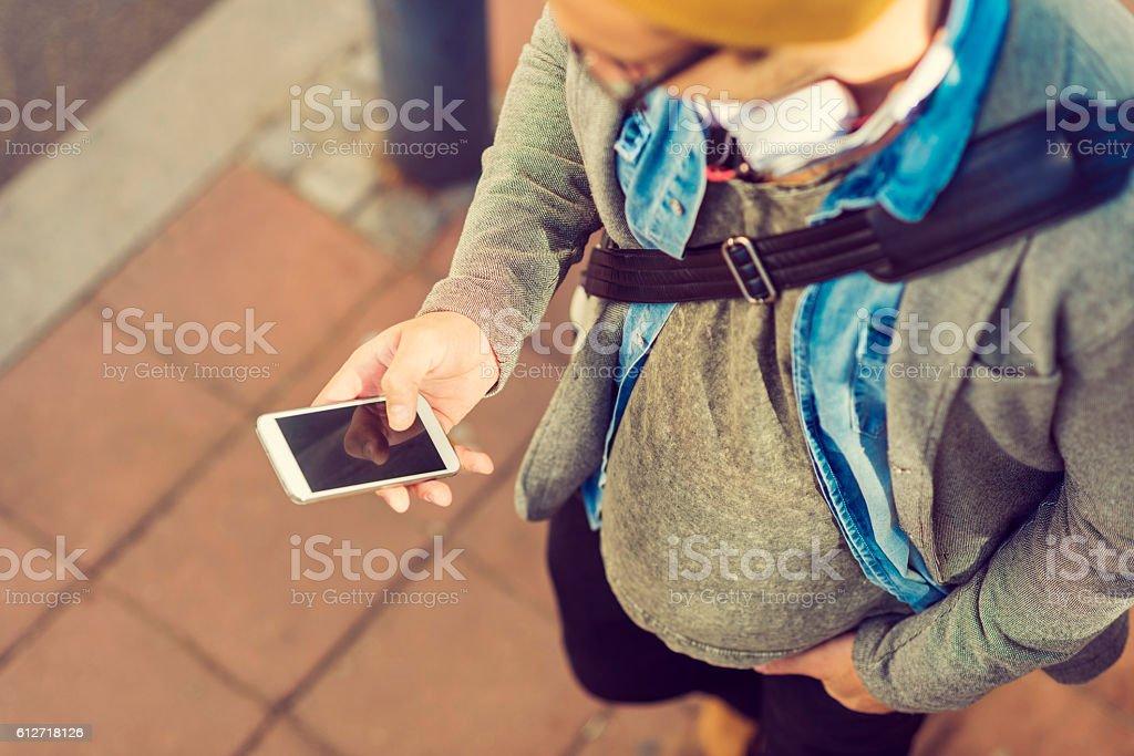 stylish man using his smartphone stock photo