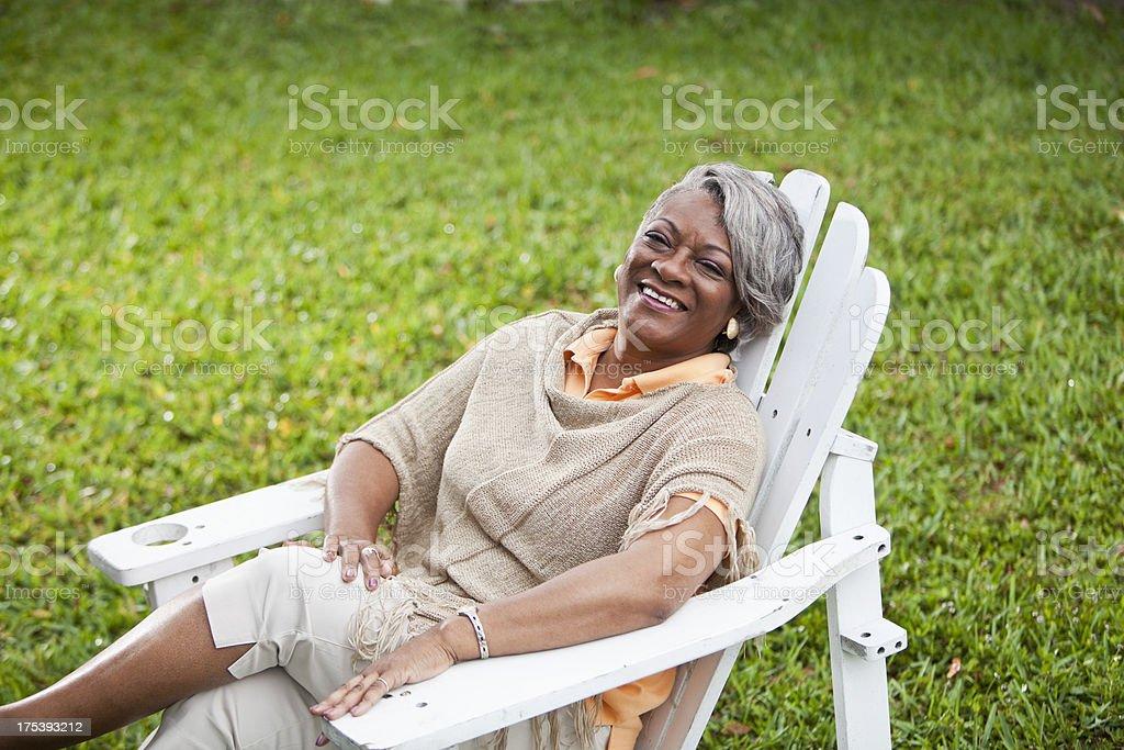 Stylish mature African American woman stock photo