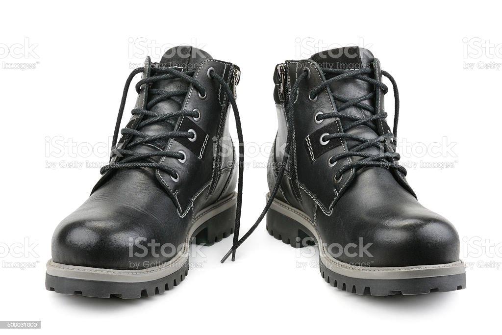 Stylish men's shoes stock photo