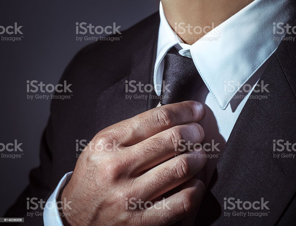 Stylish mens suit stock photo