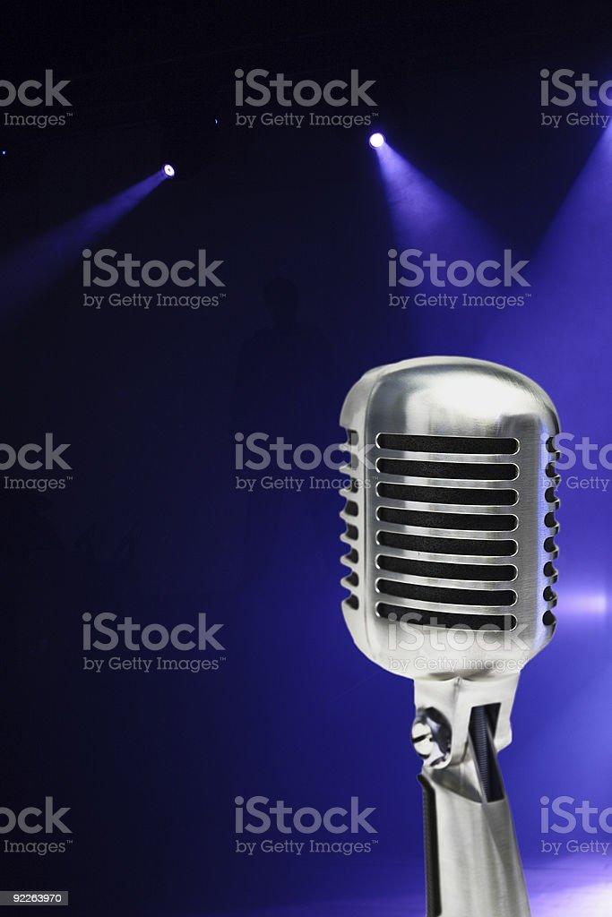 Stylish Microphone royalty-free stock photo