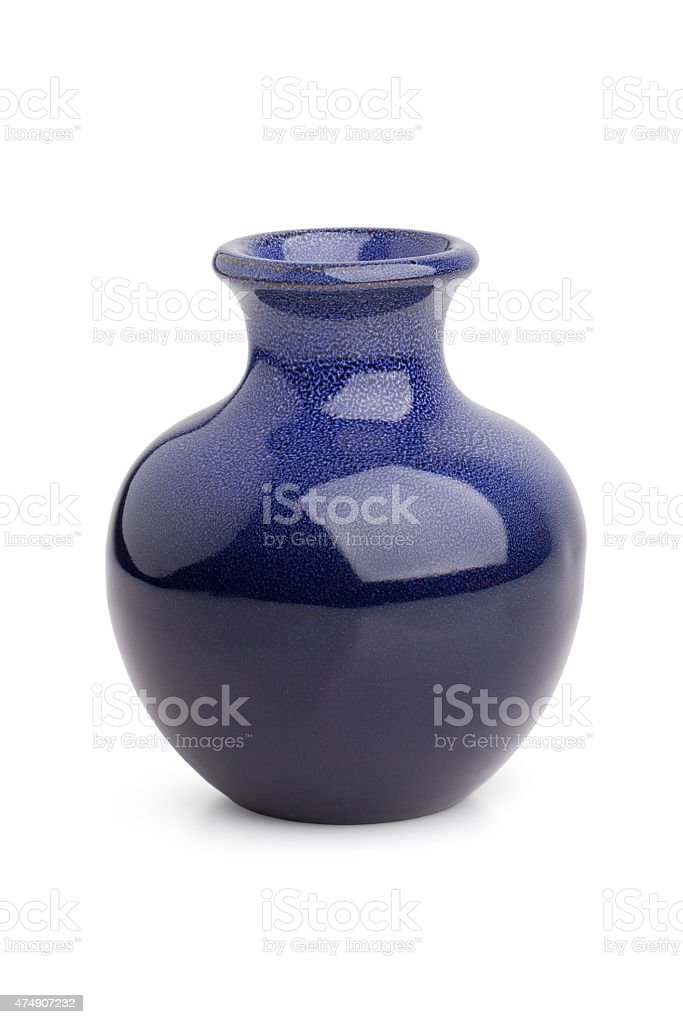 Stylish miniature ceramic vase stock photo