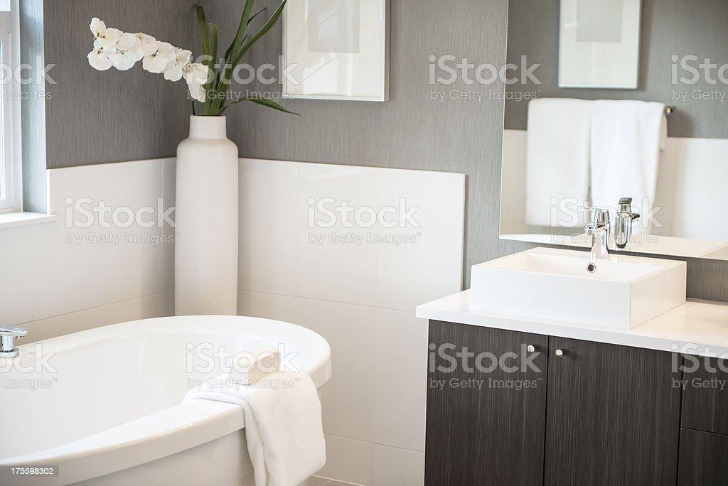 Stylish Modern Bathroom Details stock photo