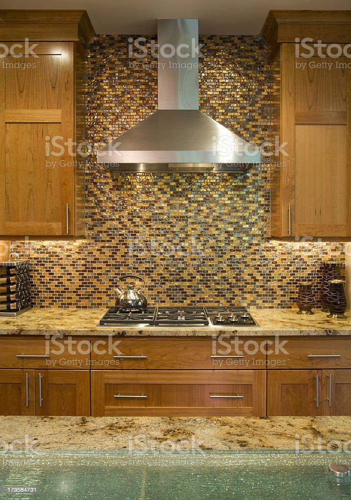 Stylish modern kitchen. stock photo