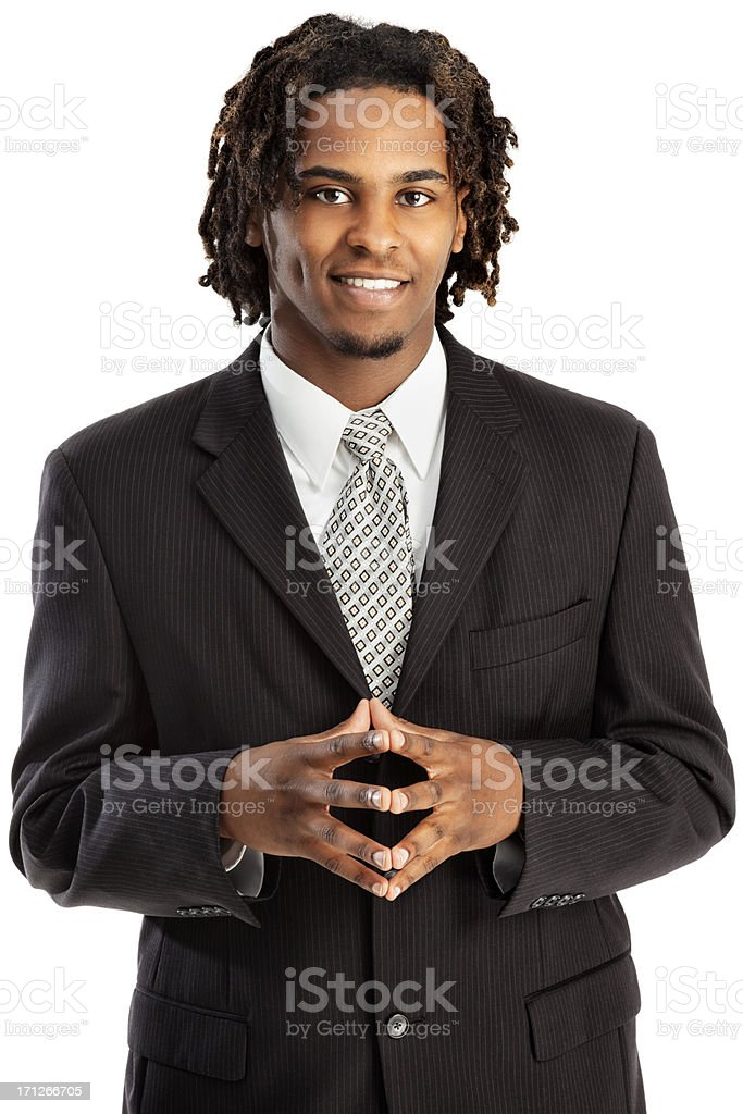 Stylish Modern Young African American Businessman royalty-free stock photo