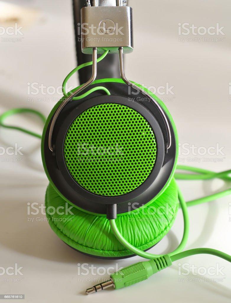 stylish Music headphones stock photo