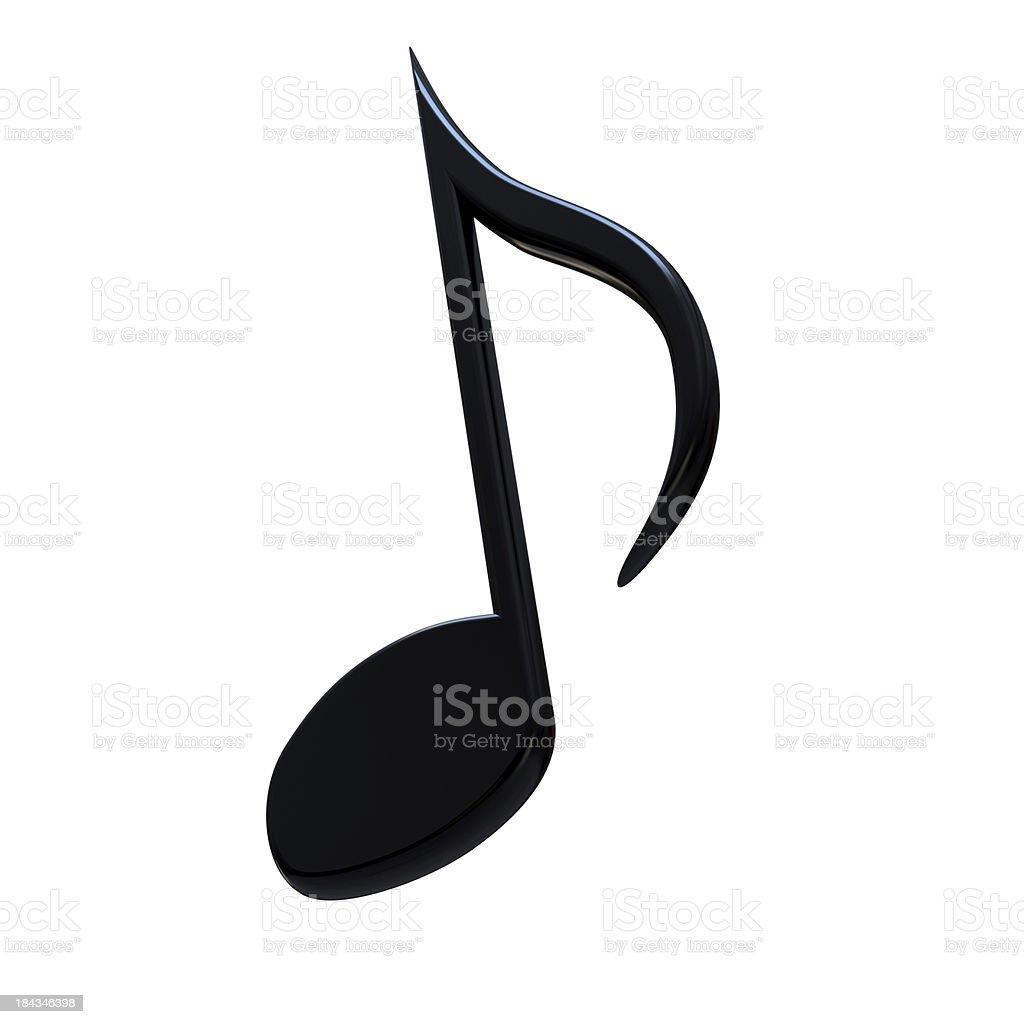 Stylish music note stock photo