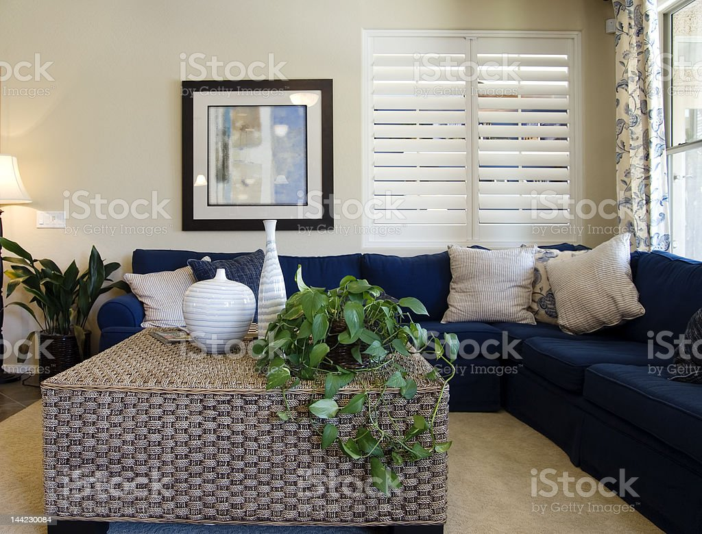Stylish New Living Room  royalty-free stock photo