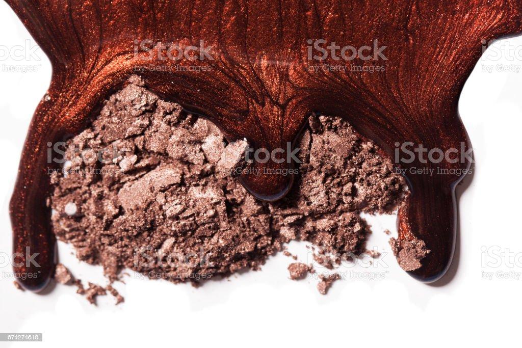 Stylish pattern of makeup on a white background. stock photo