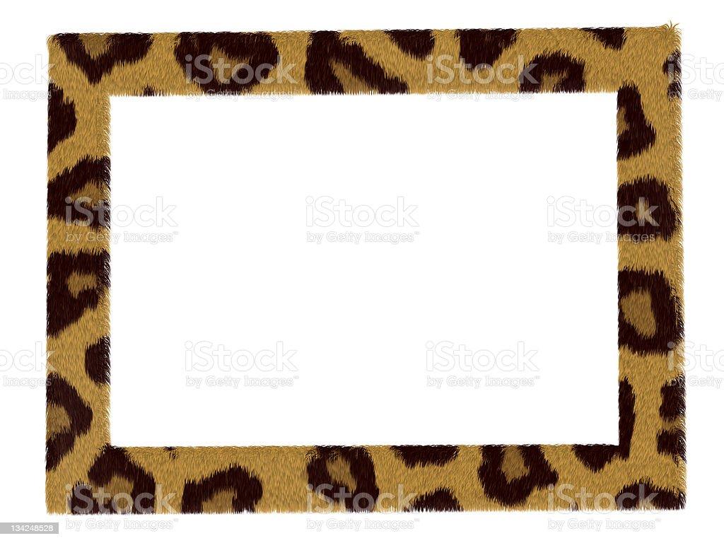 Imagem elegante Moldura de padrão leopardo isolado sobre branco foto de stock royalty-free