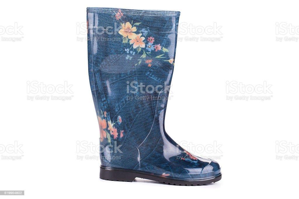 Stylish printed wellington boots. stock photo