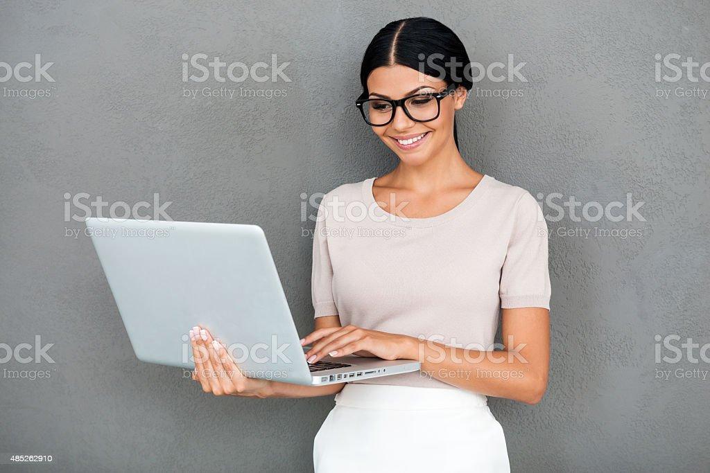 Stylish professional. stock photo