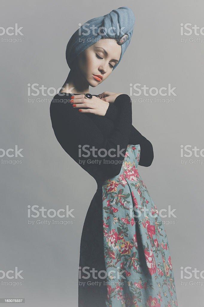 Stylish refined lady royalty-free stock photo