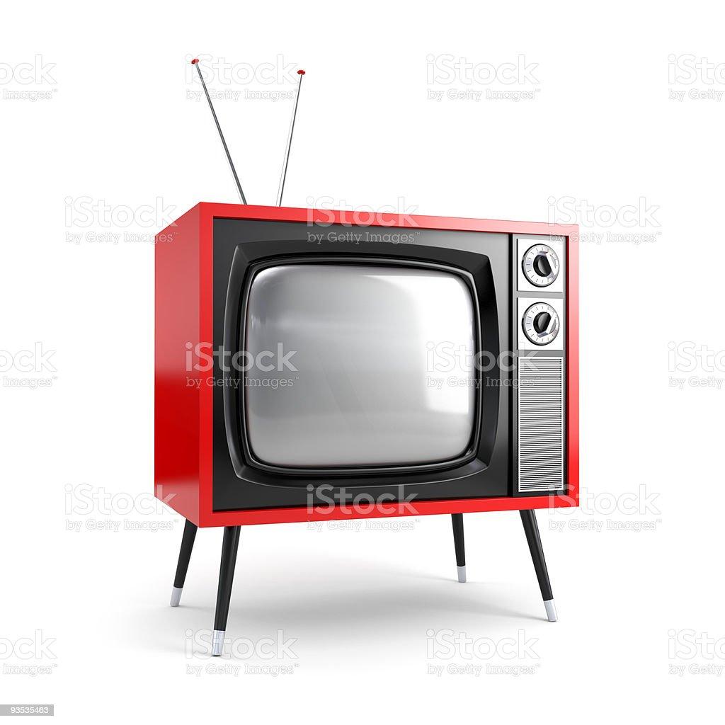 Stylish retro TV stock photo