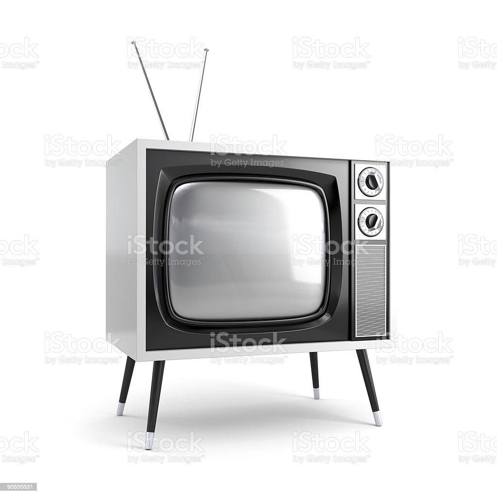 Stylish retro TV royalty-free stock photo