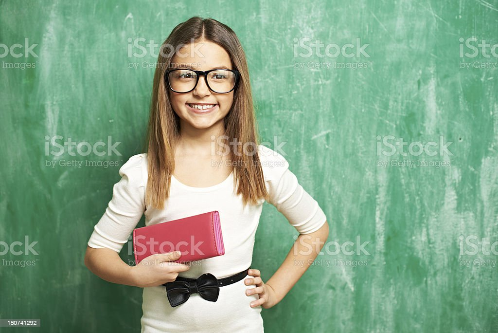 Stylish schoolgirl royalty-free stock photo