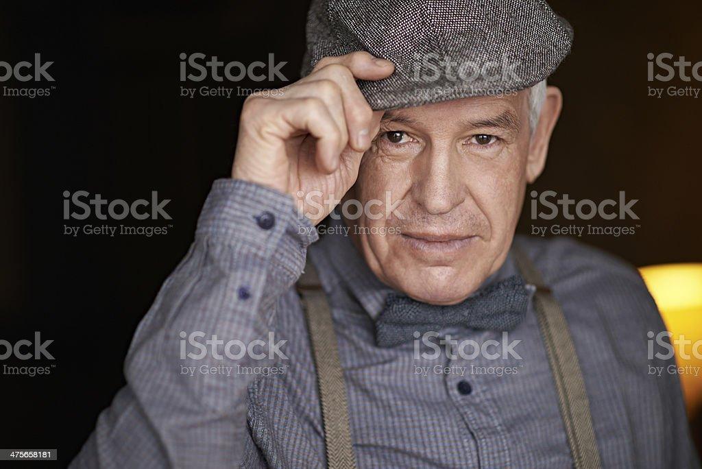 Stylish senior stock photo