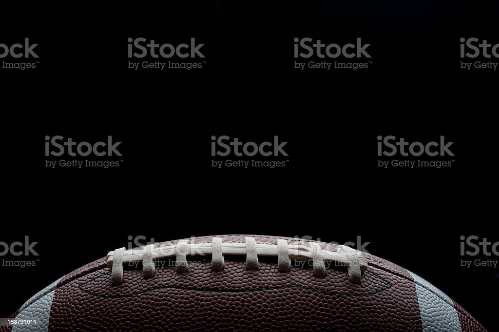 Stylish shot of a gridiron football stock photo