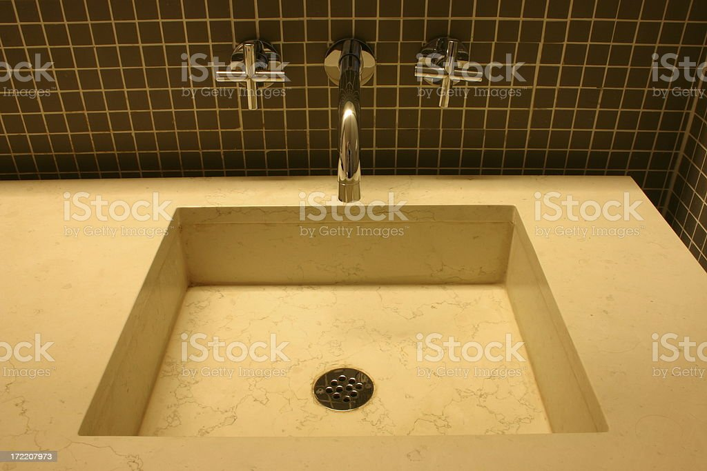 Stylish sink royalty-free stock photo
