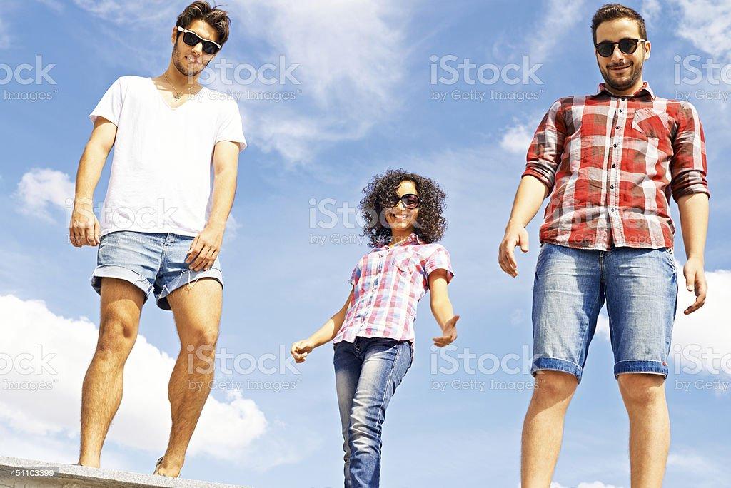 Stylish teens royalty-free stock photo
