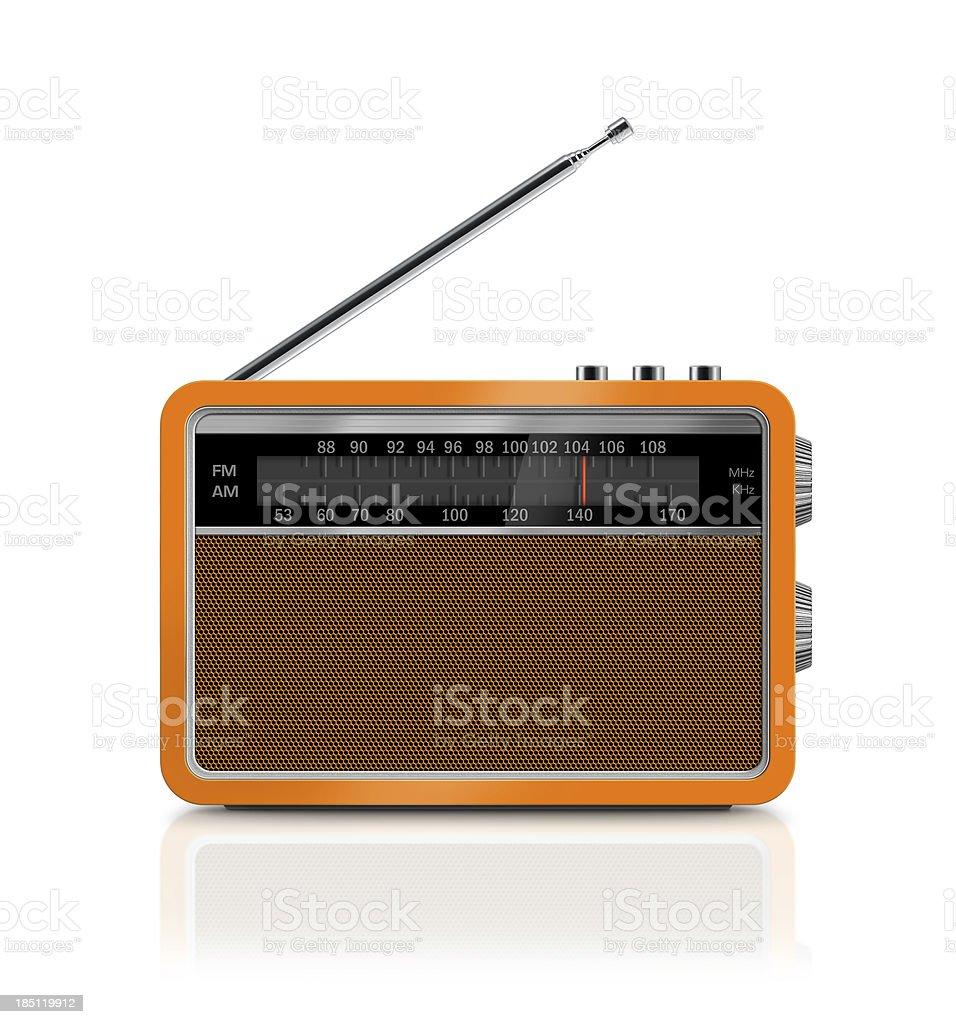 Stylish Vintage Portable Radio stock photo