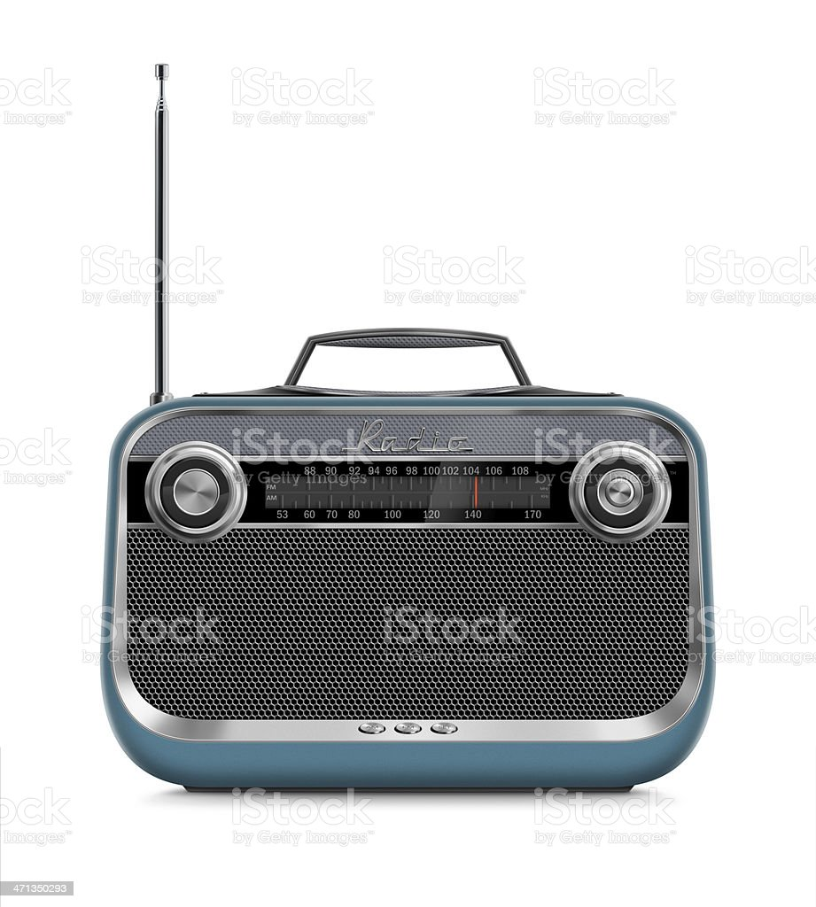 Stylish Vintage Portable Radio stock photo