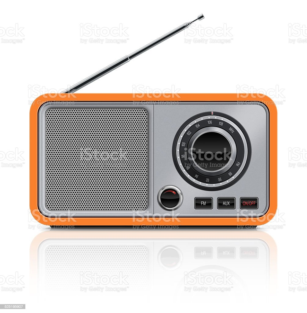 Stylish Vintage Table Radio stock photo