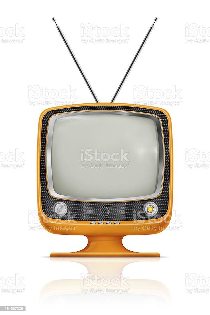 Stylish Vintage Television stock photo