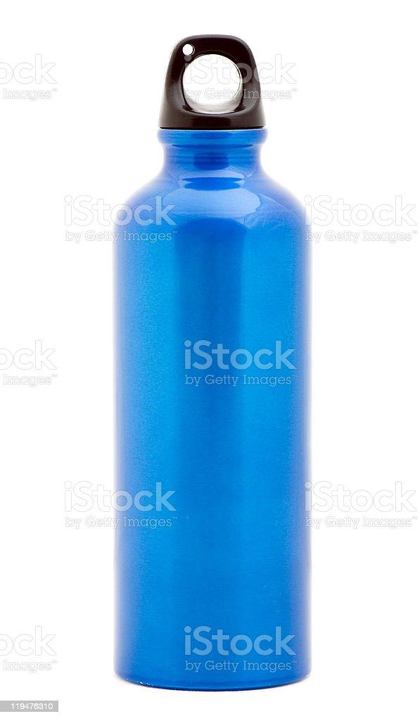 Stylish Water Bottle isolated on white royalty-free stock photo