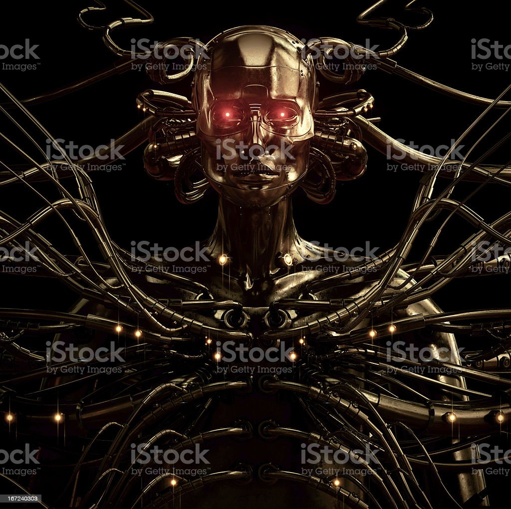 Stylish wired cyber man royalty-free stock photo